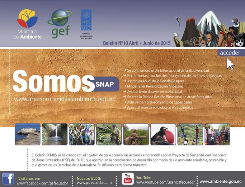 Boletín Informativo SOMOS SNAP abril - junio 2015