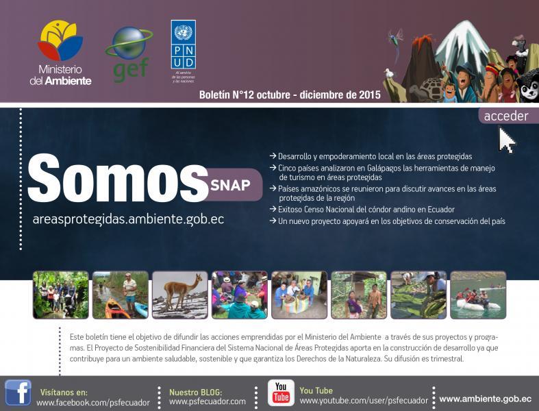 Boletín Informativo SOMOS SNAP octubre - diciembre 2015